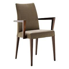 sale Midj Matrix P-lg Chair In Wood And Fabric / Ecoleather / Leather