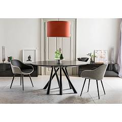 Midj Forest Fixed table | extendable with metal frame and wooden top | glass | glass ceramic