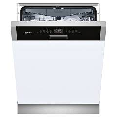 Neff S415M80S1E Dishwasher cm. 60 - 14-covered - dashboard stainless steel and black semi-integrated