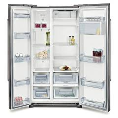 Neff Ka7902i30 Fry freezer h 1760 freestanding side by side inox - lt. 573 chromed stainless steel aesthetic sides