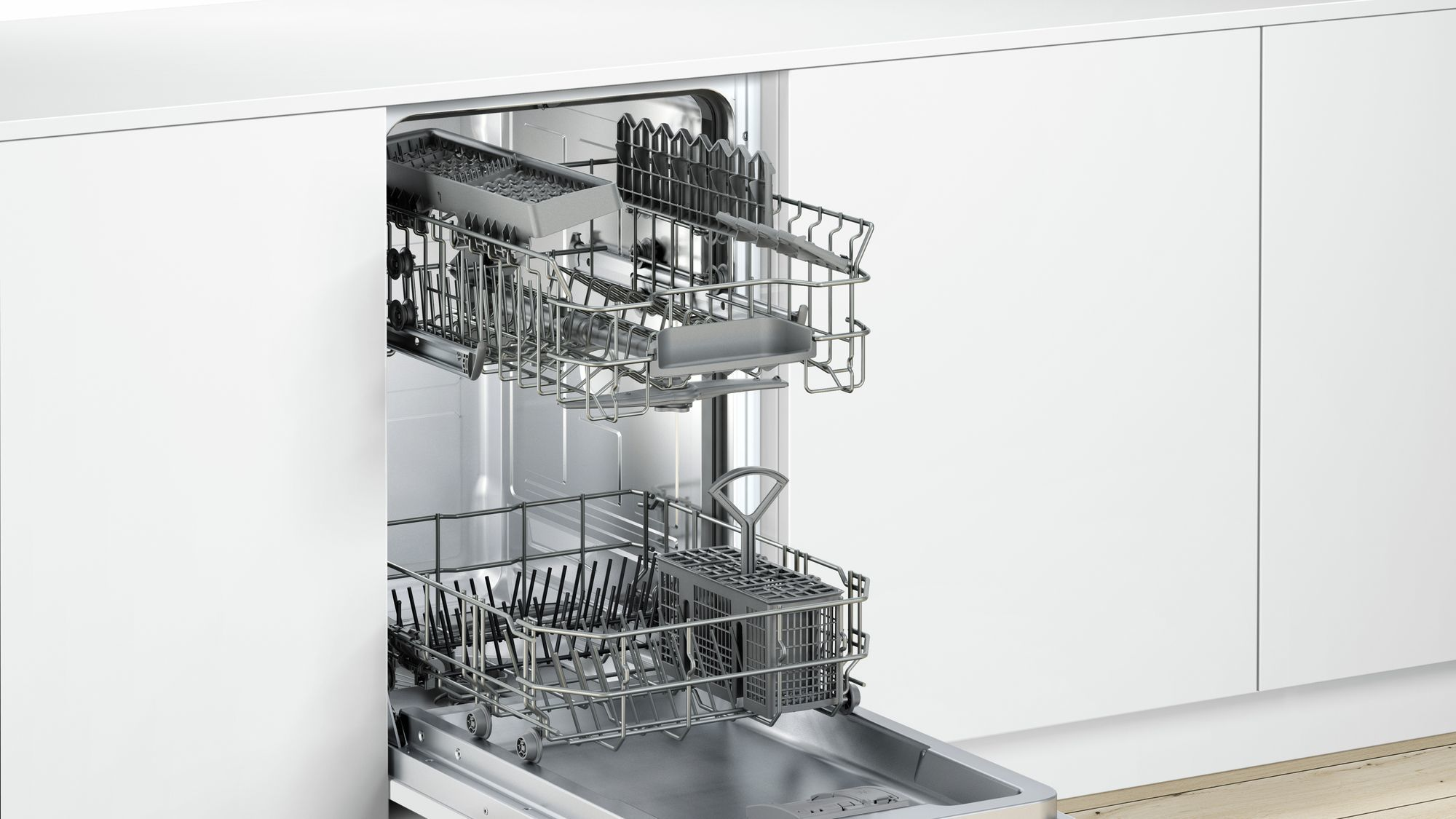 Photos 3: Neff Dishwasher cm. 45 - 9 covered total disappearance S583C50X2E