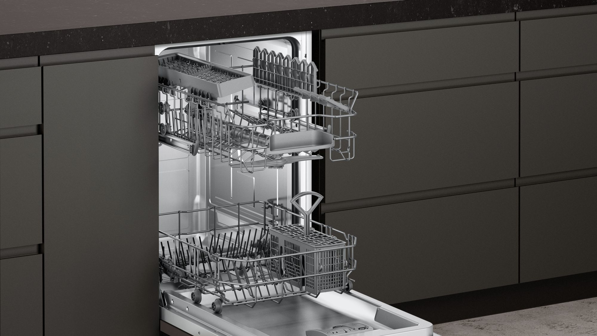 Photos 2: Neff Built-in dishwasher cm. 45 - 9 partial integrated cover S481C50S3E