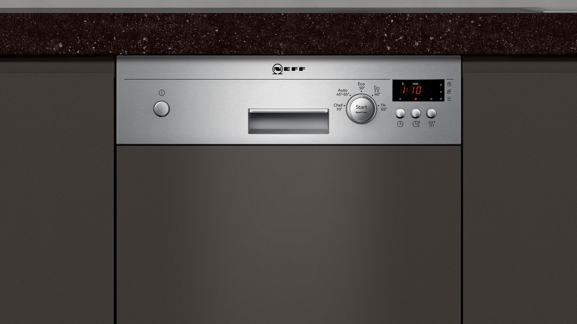 Photos 3: Neff Built-in dishwasher cm. 45 - 9 partial integrated cover S481C50S3E