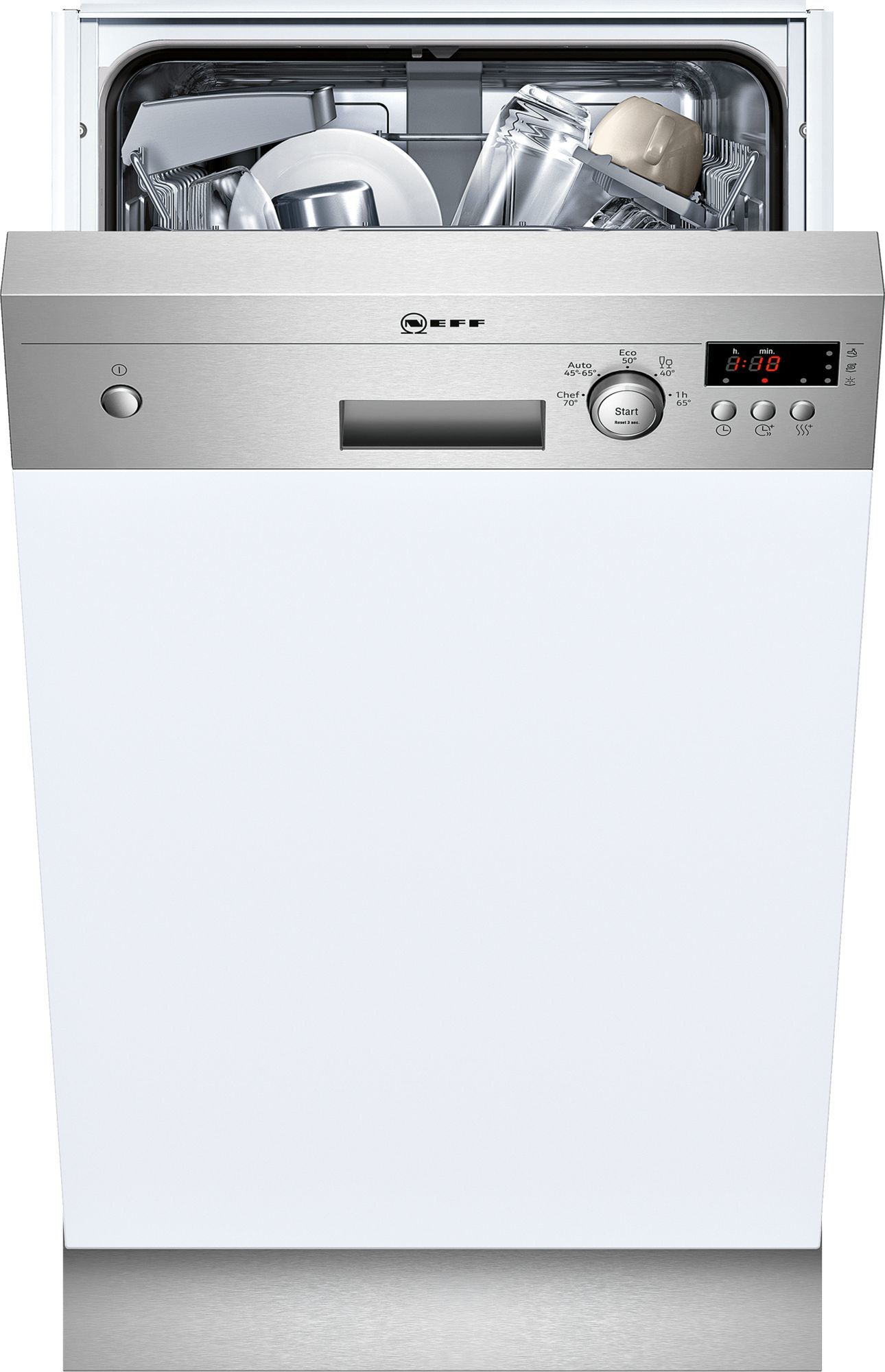 Photos 1: Neff Built-in dishwasher cm. 45 - 9 partial integrated cover S481C50S3E