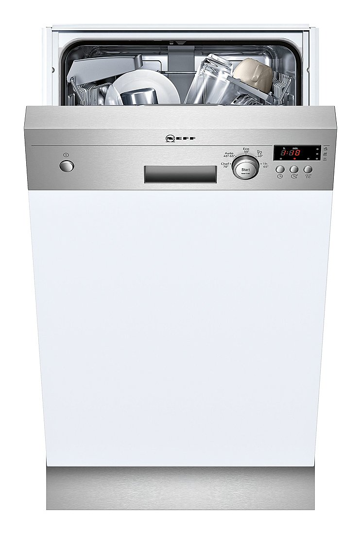 Photos 1: Neff S481C50S3E Built-in dishwasher cm. 45 - 9 partial integrated cover