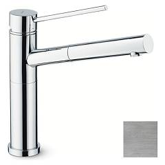 Newform 2415.31.028 Kitchen mixer with hand shower and swivel spout - brushed chrome X-trend