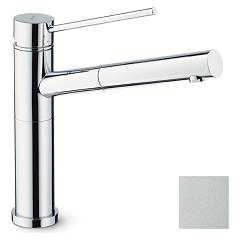 Newform 2415.92.106 Kitchen mixer with hand shower and swivel spout - satin chrome X-trend