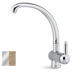 Newform 8640.72.146 Under-window kitchen mixer with swivel conical spout - oat granite Marvel