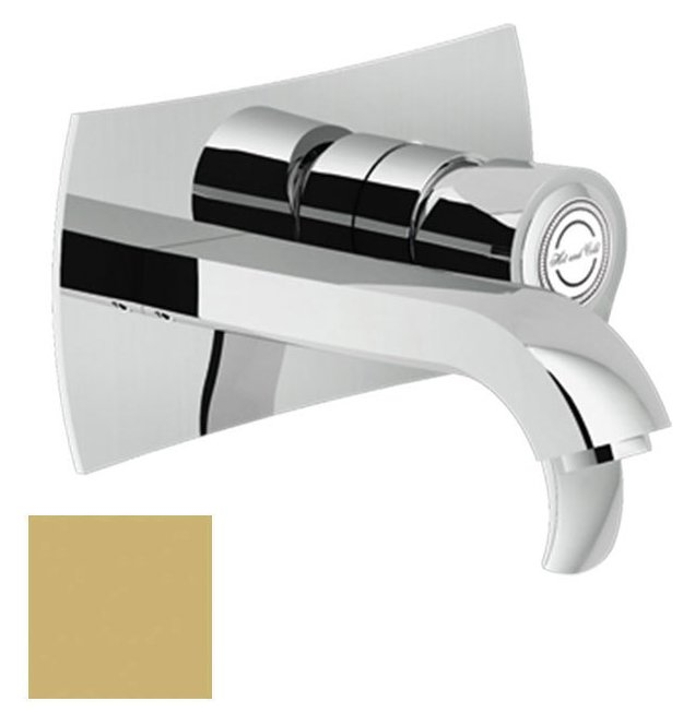 Photos 1: Nobili SI98198GM Sofì Wall-mounted sink mixer - champagne
