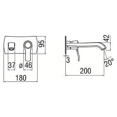 Photos 2: Nobili SI98198/1CR Sofì Wall-mounted sink mixer - chrome