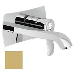 Nobili Si98198/1gm Wall-mounted sink mixer - champagne Sofì