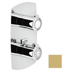 Nobili Si98101gm Thermostatic wall-mounted shower mixer - 1-way champagne Sofì