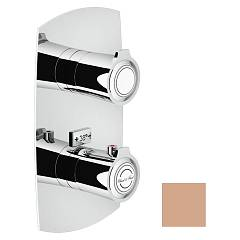 Nobili Si98101pm Thermostatic wall-mounted shower mixer - 1-way soft rosé Sofì