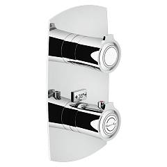 Nobili Si98102cr Thermostatic wall-mounted shower mixer - 2-way chrome Sofì