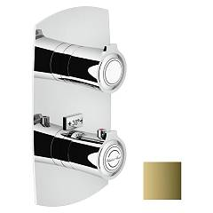 Nobili Si98102gd Thermostatic wall-mounted shower mixer - royal gold 2-way Sofì