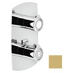 Nobili Si98102gm Thermostatic wall-mounted shower mixer - 2-way champagne Sofì