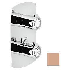 Nobili Si98102pm Thermostatic wall-mounted shower mixer - 2-way soft rose Sofì