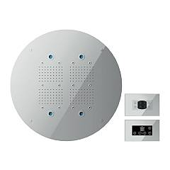 Nobili Ad139/91acr Ceiling shower head diameter cm. 60 with chromotherapy and aromatherapy - chrome