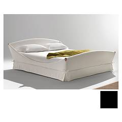 Noctis Lullaby Romantic Single bed oblazinjeno črn