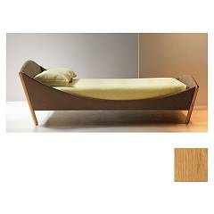 Noctis Lullaby Modern Bed in pol square oblazinjenim natural
