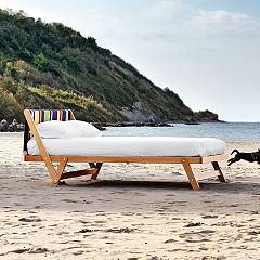 Noctis Tolo Bed a square and half in wood natural