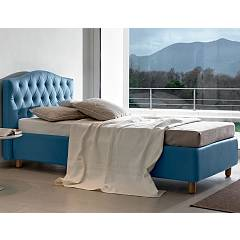 Noctis Dream Capitone H25 Ring Single bed upholstered