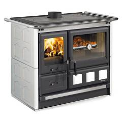 sale Nordica Rosa Xxl Maiolica Wood Stove Hot Air Natural Convection 9 Kw - White Infinity Tiled Coating