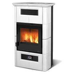 sale Nordica Wanda Classic Evo Wood-burning Stove, Hot Air Is Canalized 9 Kw - White Infinity Tiled Coating