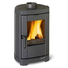 Nordica Brigitta Wood stove hot air natural convection 6 kw - cast iron