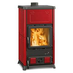 Nordica Fedora Wood stove hot air natural convection 8 kw - bordeaux majolica coating