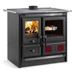 Nordica Rosa L Wooden cooking hot air natural convection 8 kw - black anthracite steel covering