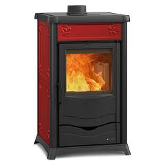 Nordica Termonathalie Dsa Wood heating stove for water heating 9 kw - bordeaux majolica coating Termostufe