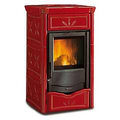 Nordica Termonicoletta Evo Dsa Wood heating stove for water heating 13 kw - bordeaux majolica coating Termostufe