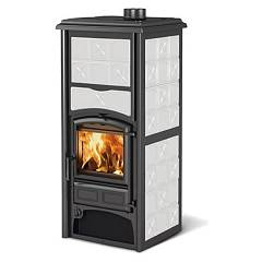 sale Nordica Loriet S Dsa Wood Stove For Water Heating 24 Kw - White Infinity Tiled Coating