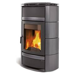Nordica Norma S Idro Dsa Wood heating stove for water heating 20 kw - titanium majolica coating Termostufe