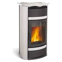 sale Nordica Norma Classic S Evo Idro Dsa Wood Stove For Water Heating 18 Kw - White Infinity Tiled Coating