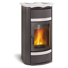Nordica Norma Steel S Evo Idro Dsa Wood heating stove for water heating 18 kw - bianco infinity steel covering Termostufe