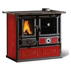 Nordica Termorosa Dsa Wood stove for water heating on 16 kw - bordeaux liberty tiled coating Termocucine