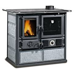 Nordica Termorosa Dsa Wood stove for water heating on 16 kw - natural stone natural stone cladding Termocucine