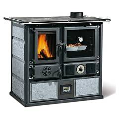 Nordica Termorosa Ready Dsa 2.0 Wood stove for water heating on 16 kw - natural stone natural stone cladding Termocucine