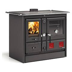Nordica Termorosa Xxl Dsa Wood cooking for water heating 18 kw - black anthracite steel covering Termocucine