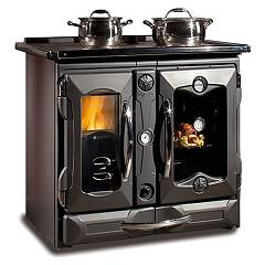 Nordica Termosuprema Compact Dsa Wood cooker for water heating 19 kw - black cast iron covering Termocucine