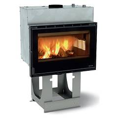 sale Nordica Focolare 80 Idro Crystal Dsa Wood-burning Firebox For Heating Water 15 Kw Cast Iron Coating