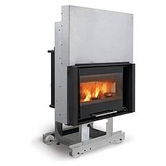 sale Nordica Termocamino Base Dsa Wood Burning Fireplace For Water Heating On 16 Kw Cast Iron Coating
