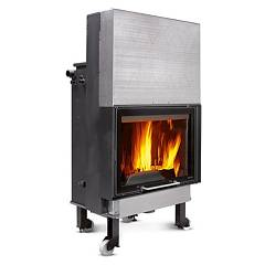 sale Nordica Termocamino Wf25 X Dsa Wood-burning Fireplace For Heating Water 27 Kw Cast Iron Coating