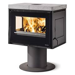Nordica Astrid Wood stove hot air natural convection 9 kw - natural stone cast iron covering