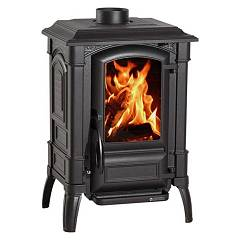 Nordica Giulietta X Wood stove hot air natural convection 7 kw - smoked cast iron coated in cast iron