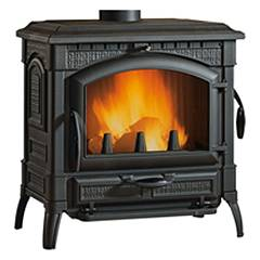 Nordica Isotta Evo Wood stove hot air 12 kw natural convection - cast iron