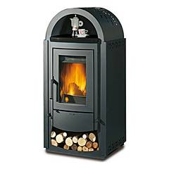 Nordica Norvegia New Bii Wood stove hot air natural convection 11 kw - black anthracite steel covering