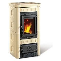 Nordica Gaia Wood stove hot air natural convection 6 kw - pergamena majolica coating